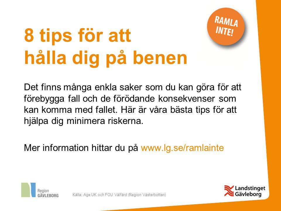 Källa: Age UK och FOU Välfärd (Region Västerbotten) 1.