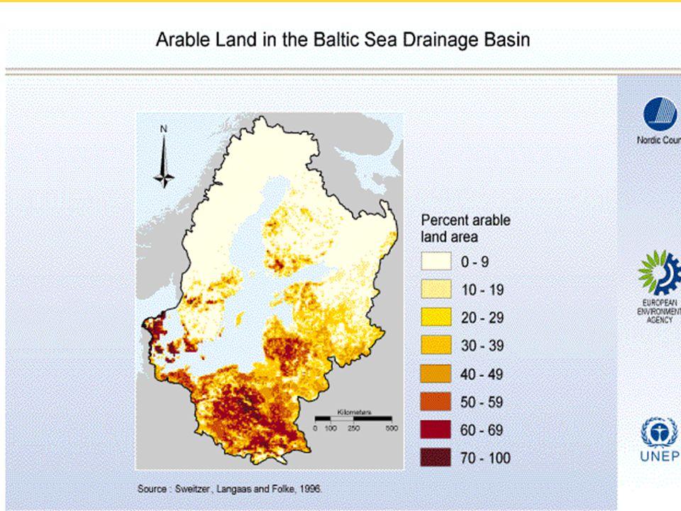 På kartan: gårdar med mer än 200 livestock units Av: Rimas Magyla, LZUKT, Litauen Litauen- hela landet är nitratkänsligt område