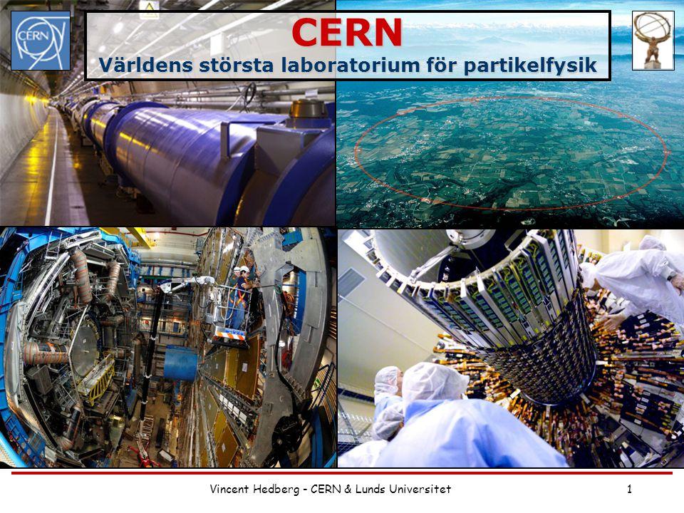 Vincent Hedberg - CERN & Lunds Universitet1 CERN Världens största laboratorium för partikelfysik