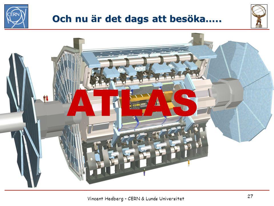 Vincent Hedberg - CERN & Lunds Universitet 27 Och nu r det dags att besöka….. Och nu är det dags att besöka….. ATLAS