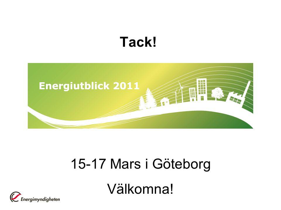 Tack! 15-17 Mars i Göteborg Välkomna!