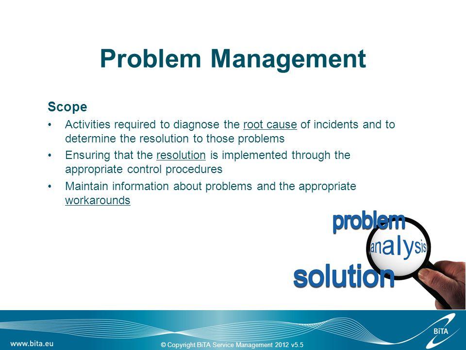 Fördelar 1(3) För verksamheten Stabil drift (färre störningar) Lägre kostnad för IT-relaterade störningar i verksamheten Lägre kostnad för IT Ökat förtroende för IT om IT kan visa på systematisk Problem Management.