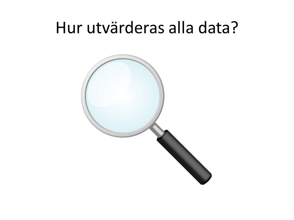 Hur utvärderas alla data?