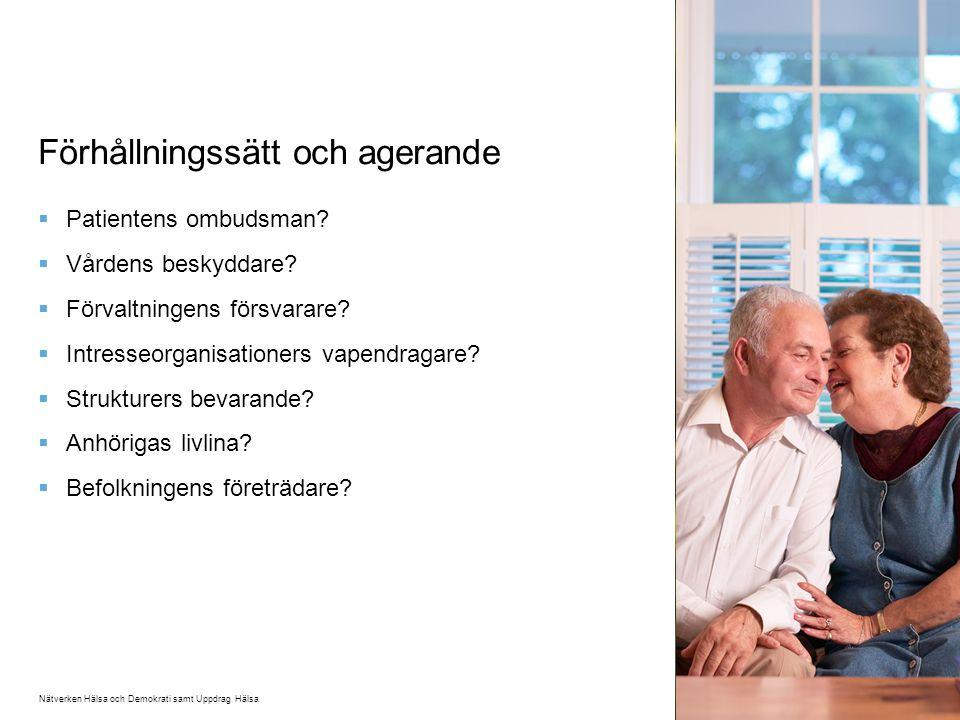 Förhållningssätt och agerande  Patientens ombudsman.