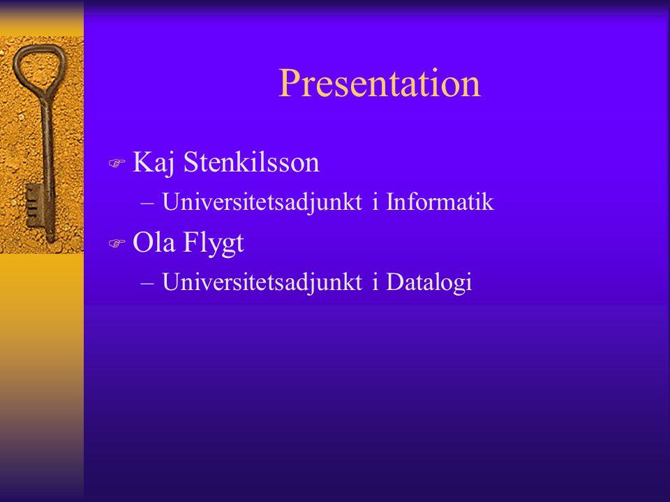 MSI F Matematiska och Systemtekniska Institutionen F Inom denna institution finns ämnen som: –Datalogi –Informatik –Matematik –Mediateknologi