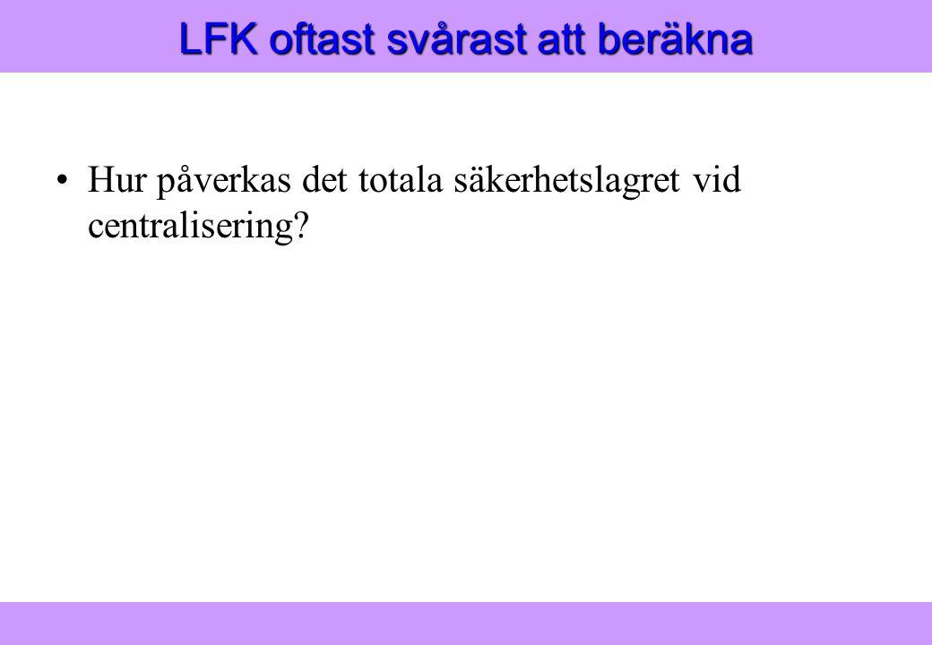 """""""Modern Logistik"""" Aronsson, Ekdahl, Oskarsson, """"Modern Logistik"""" Aronsson, Ekdahl, Oskarsson, © Liber 2003 LFK oftast svårast att beräkna Hur påverkas"""