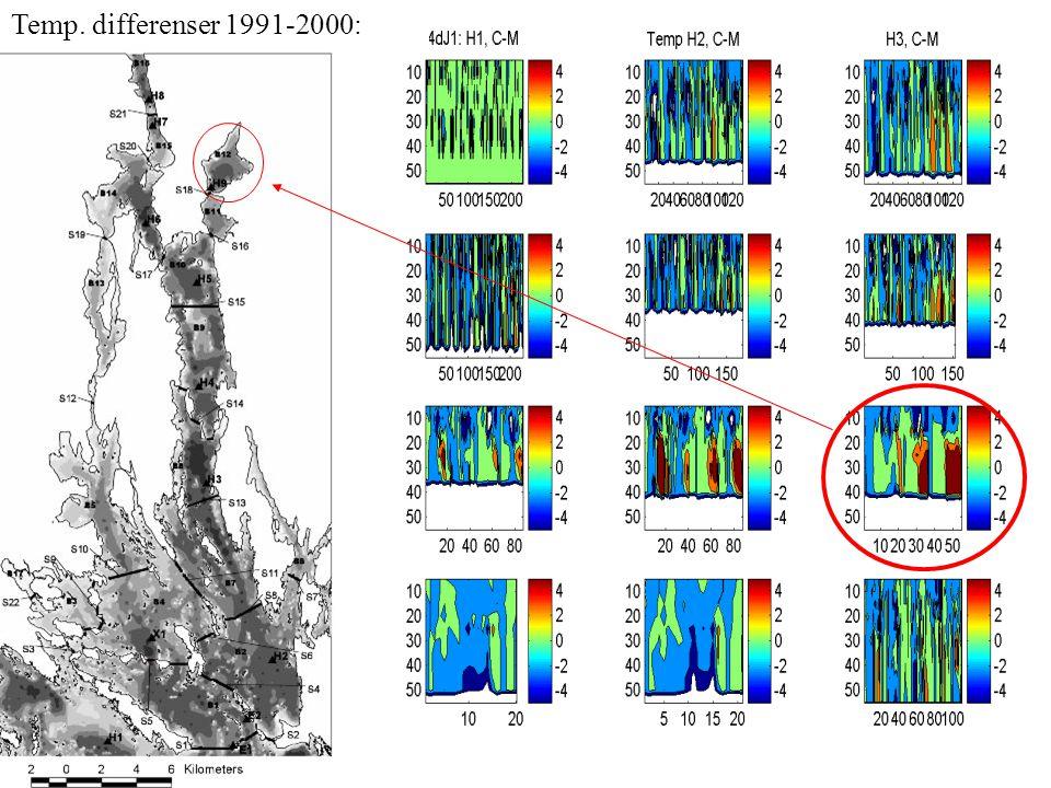 Temp. differenser 1991-2000: