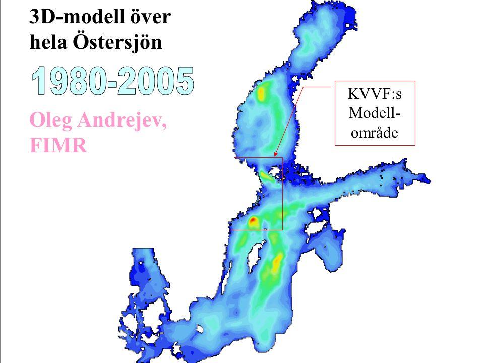 3D-modell över hela Östersjön Oleg Andrejev, FIMR KVVF:s Modell- område
