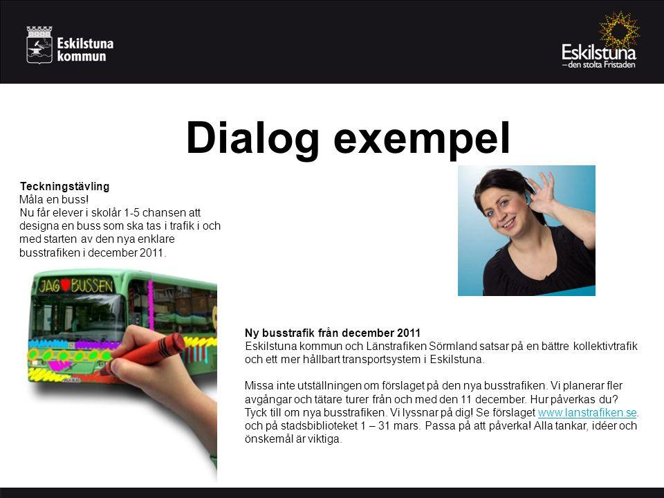 Dialog exempel Teckningstävling Måla en buss.