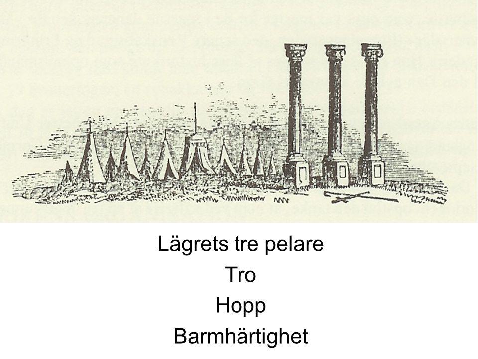 Lägrets tre pelare Tro Hopp Barmhärtighet