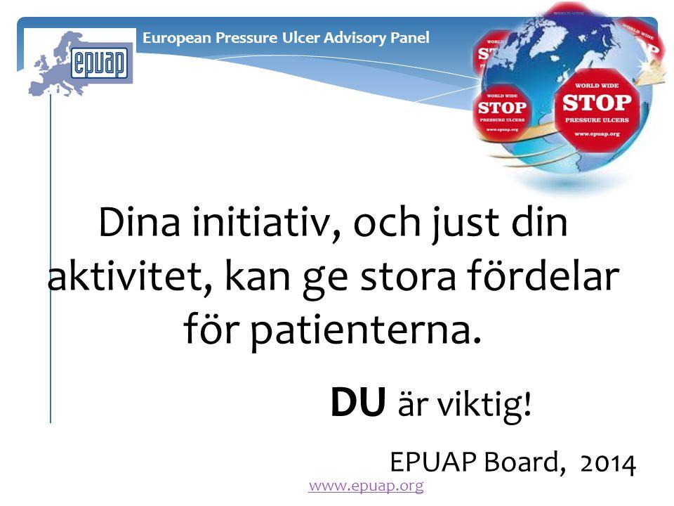 Dina initiativ, och just din aktivitet, kan ge stora fördelar för patienterna.