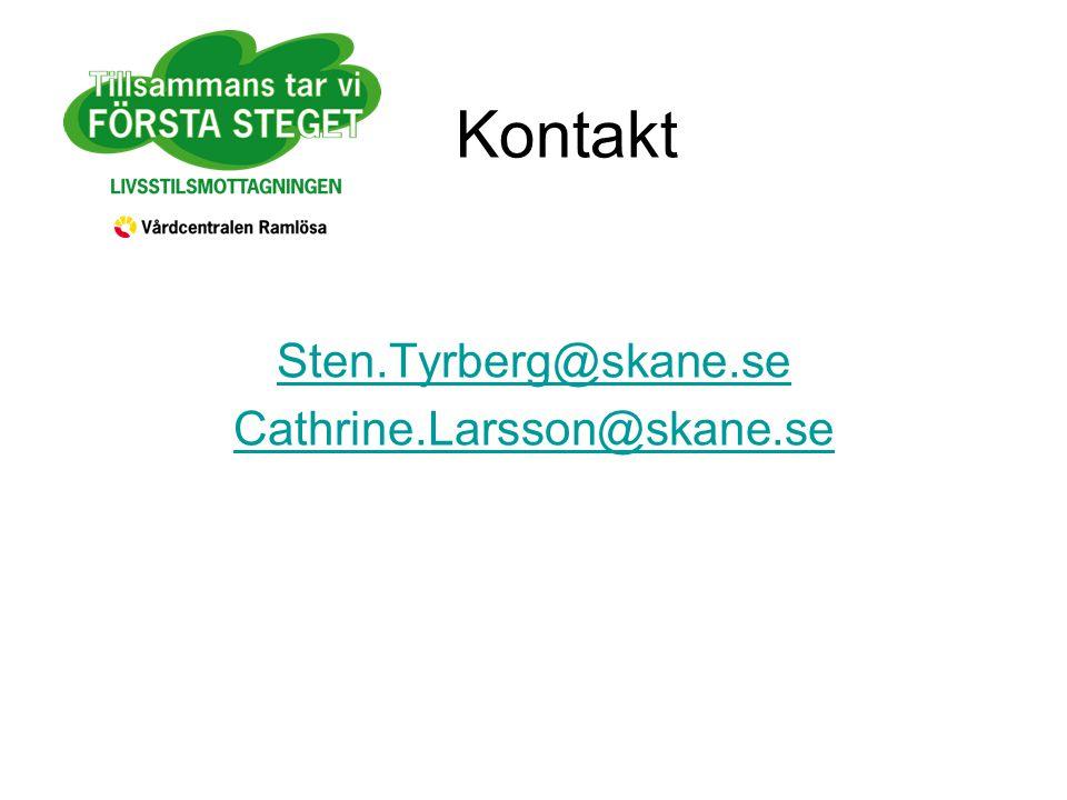 Kontakt Sten.Tyrberg@skane.se Cathrine.Larsson@skane.se