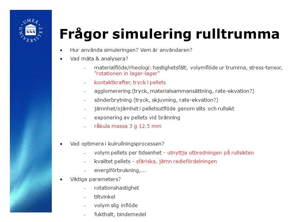 Frågor simulering rulltrumma Hur använda simuleringen.