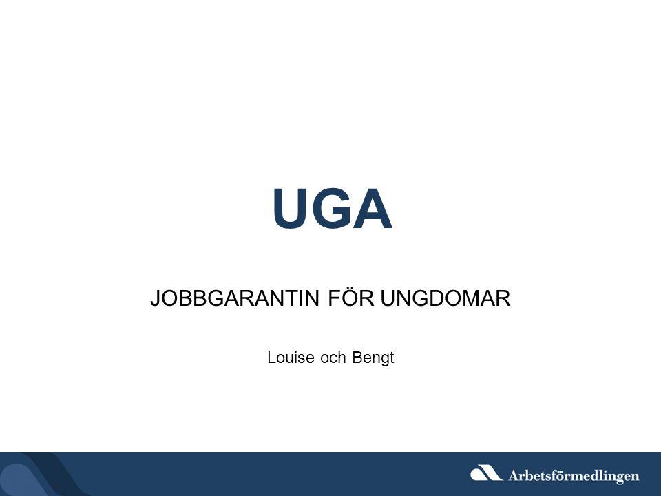 UGA JOBBGARANTIN FÖR UNGDOMAR Louise och Bengt