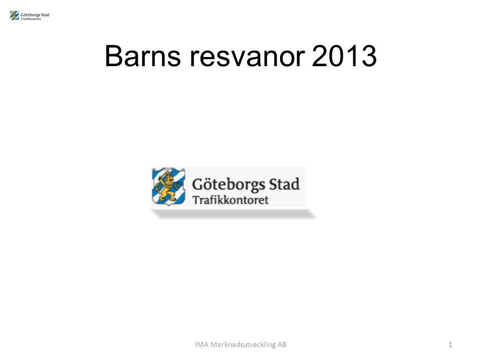 Barns resvanor 2013 IMA Marknadsutveckling AB1