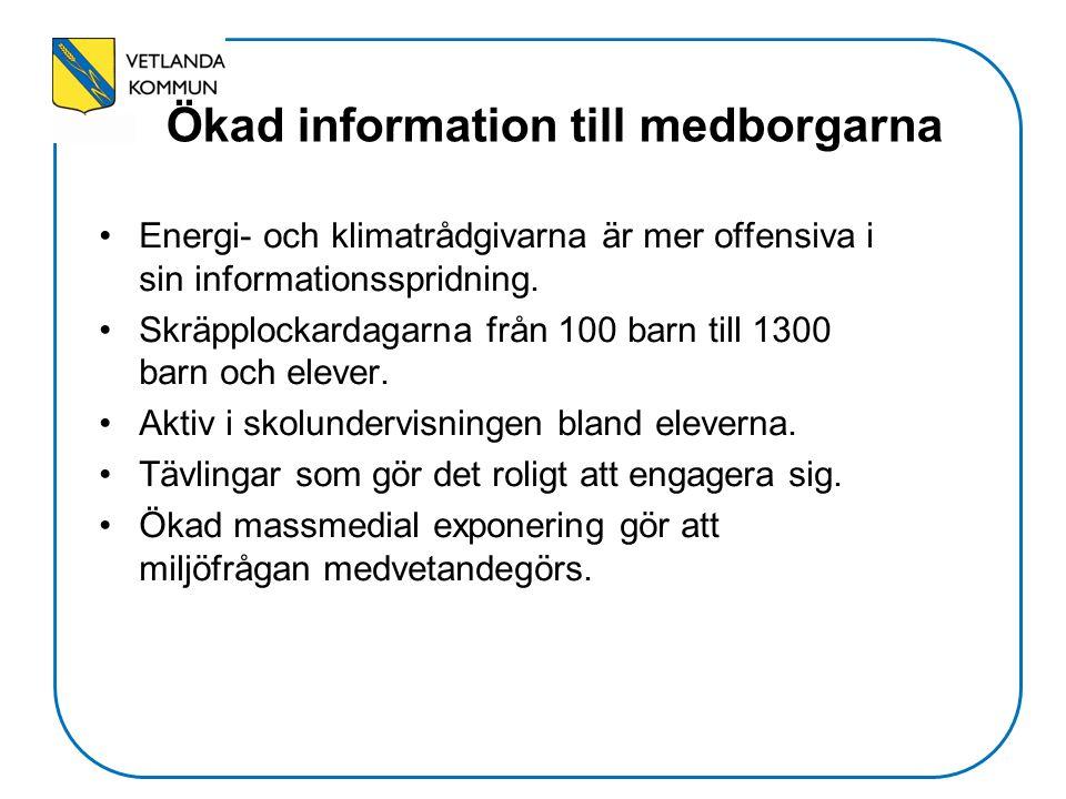 Ökad information till medborgarna Energi- och klimatrådgivarna är mer offensiva i sin informationsspridning.