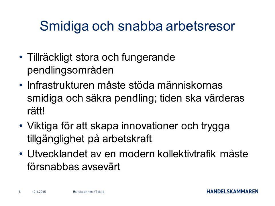 Det måste finnas fungerande flygförbindelser till den internationella marknaden från regionerna Helsingfors-Vanda har en avgörande betydelse: snabba non-stop flyg till Asien är centrala för bolagen.