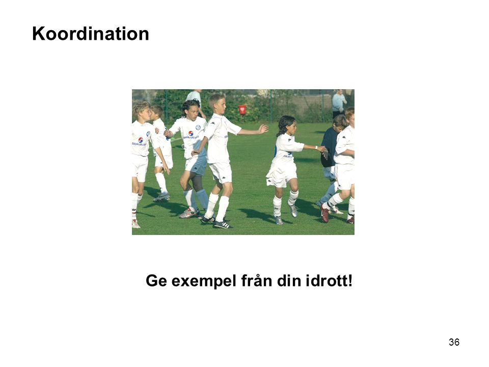 36 Koordination Ge exempel från din idrott!