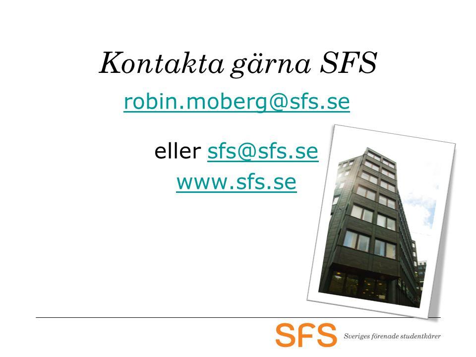 Kontakta gärna SFS robin.moberg@sfs.se eller sfs@sfs.sesfs@sfs.se www.sfs.se