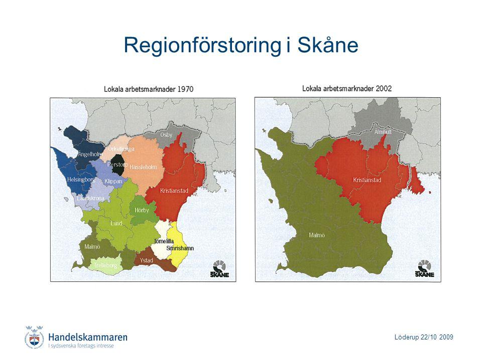 Löderup 22/10 2009 Regionförstoring i Skåne