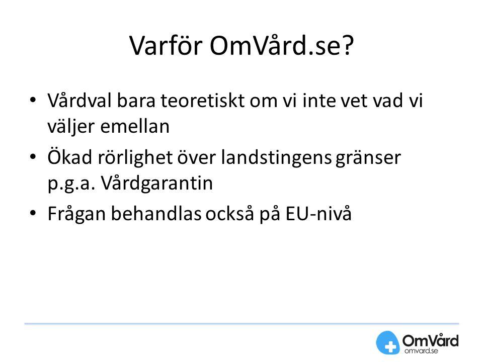 Varför OmVård.se.