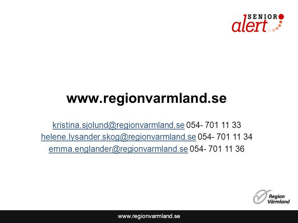 www.regionvarmland.se kristina.sjolund@regionvarmland.sekristina.sjolund@regionvarmland.se 054- 701 11 33 helene.lysander.skog@regionvarmland.sehelene.lysander.skog@regionvarmland.se 054- 701 11 34 emma.englander@regionvarmland.seemma.englander@regionvarmland.se 054- 701 11 36