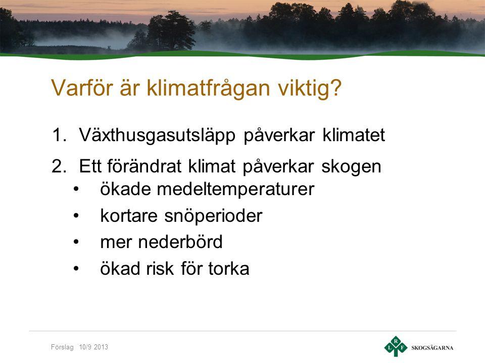 Förslag 10/9 2013 Skogsägarrörelsens mål Fritt, lönsamt och uthålligt familjeskogsbruk