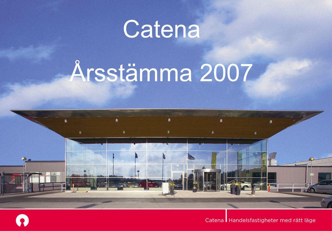 Årsstämma 2007 Catena Årsstämma 2007