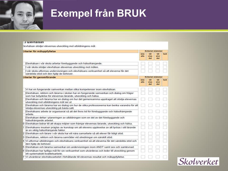 Exempel från BRUK