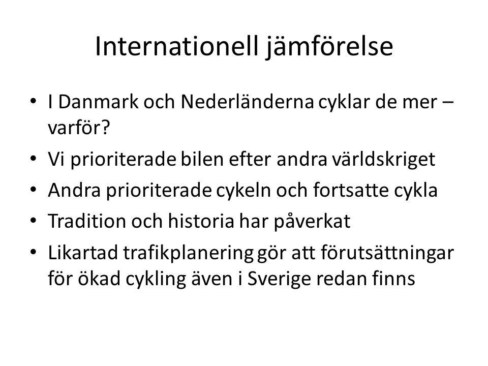 Internationell jämförelse I Danmark och Nederländerna cyklar de mer – varför.