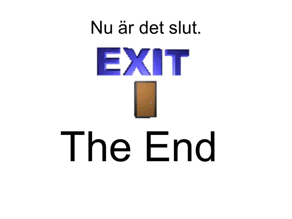Nu är det slut. The End