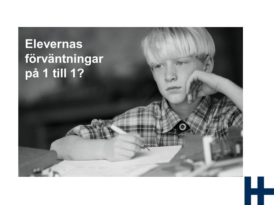 Elevernas förväntningar på 1 till 1?
