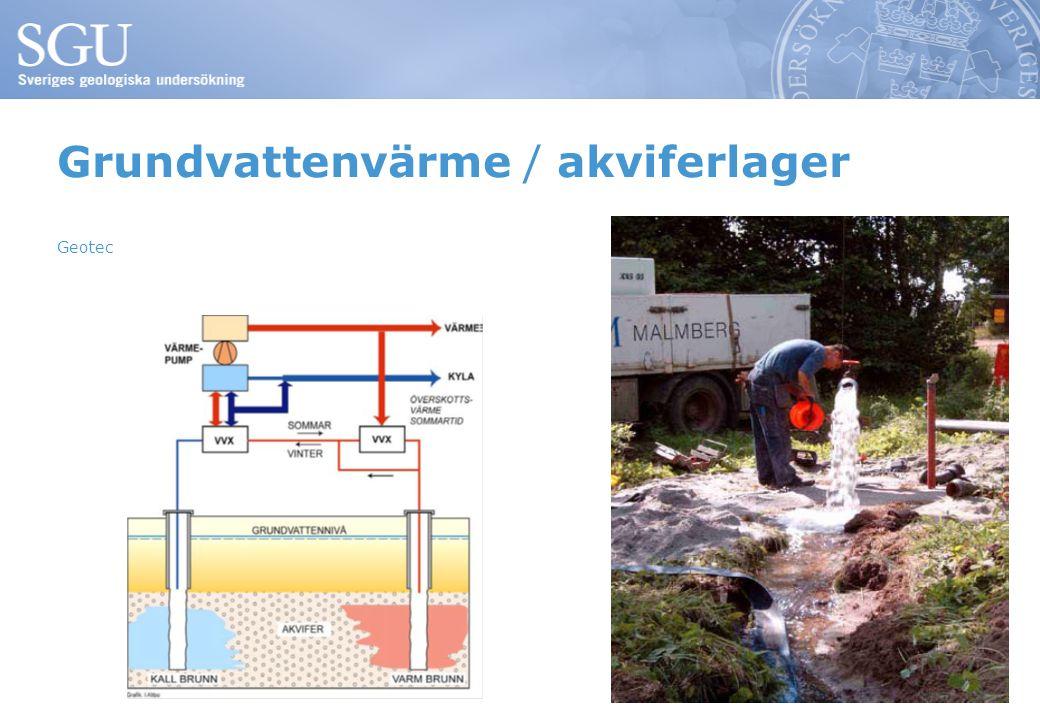 Grundvattenvärme / akviferlager Geotec