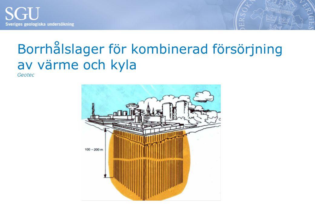 Borrhålslager för kombinerad försörjning av värme och kyla Geotec