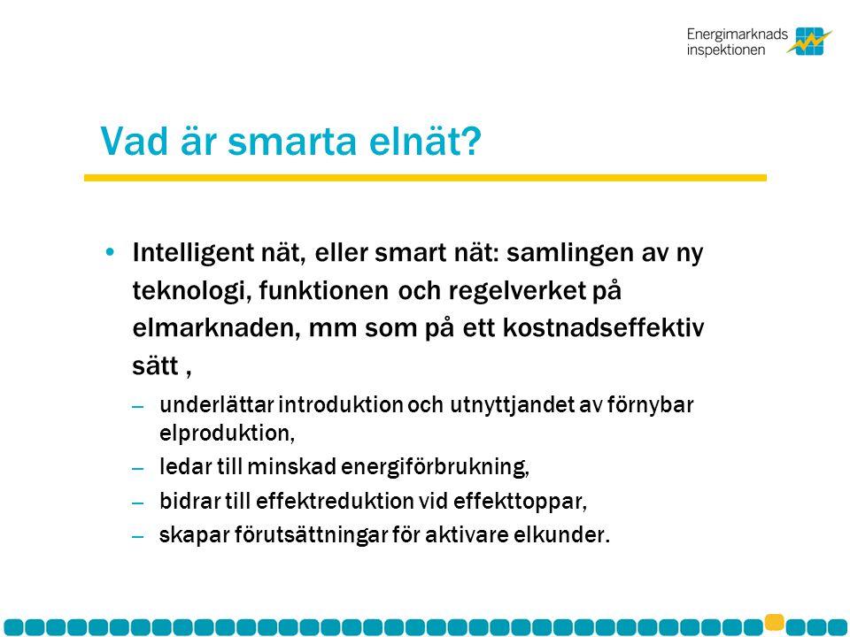 Vad är smarta elnät? Intelligent nät, eller smart nät: samlingen av ny teknologi, funktionen och regelverket på elmarknaden, mm som på ett kostnadseff