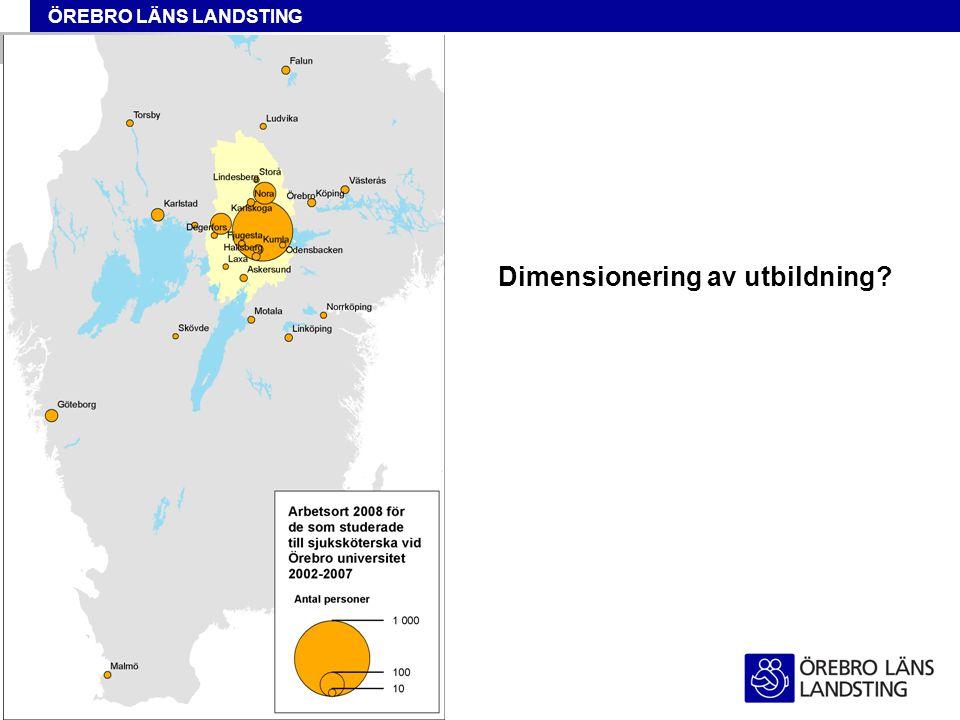 ÖREBRO LÄNS LANDSTING Dimensionering av utbildning