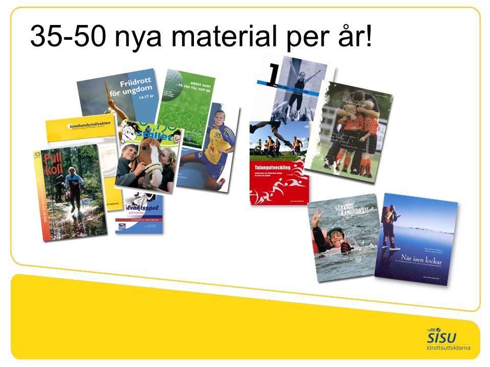 35-50 nya material per år!