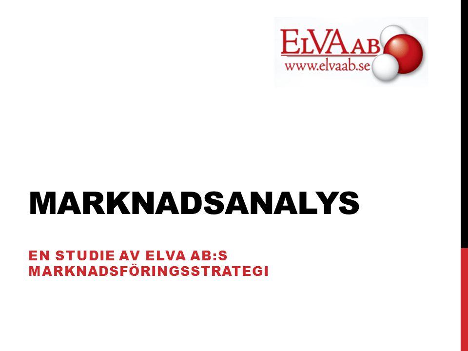 MARKNADSANALYS EN STUDIE AV ELVA AB:S MARKNADSFÖRINGSSTRATEGI