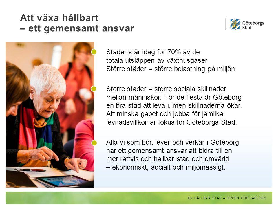 Göteborg växer – men avstånden ska krympa Nya göteborgare föds och många flyttar in, från närområden och andra länder.