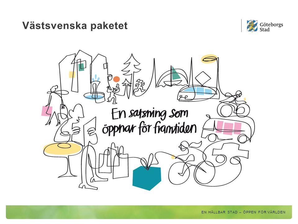 En nära storstad – Göteborgs arbetsmarknadsregion 2030 Betyder 1,75 miljoner invånare i Göteborgs arbetsmarknadsregion 2030 110 000 nya jobb i Göteborgsregionen En ökning med 10 000 personer per år de kommande 15-20 åren EN HÅLLBAR STAD – ÖPPEN FÖR VÄRLDEN
