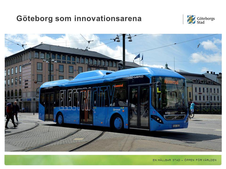 ElectriCity – ett samarbete för hållbar kollektivtrafik EN HÅLLBAR STAD – ÖPPEN FÖR VÄRLDEN Ny busslinje från 2015; ljudlösa, utsläppsfria eldrivna bussar från Volvo ska trafikera sträckan mellan Johanneberg Science Park och Lindholmen Science Park.