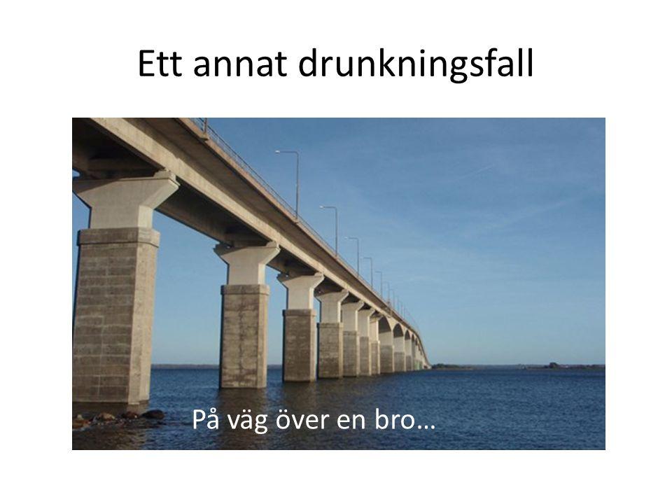 Ett annat drunkningsfall På väg över en bro…