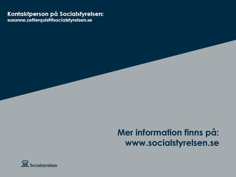 Att visa fotnot, datum, sidnummer Klicka på fliken Infoga och klicka på ikonen sidhuvud/sidfot Klistra in text: Klistra in texten, klicka på ikonen (Ctrl), välj Behåll endast text Rubrik: Century Gothic, bold 26pt Mer information finns på: www.socialstyrelsen.se Mer information finns på: www.socialstyrelsen.se Kontaktperson på Socialstyrelsen: susanne.zetterquist@socialstyrelsen.se