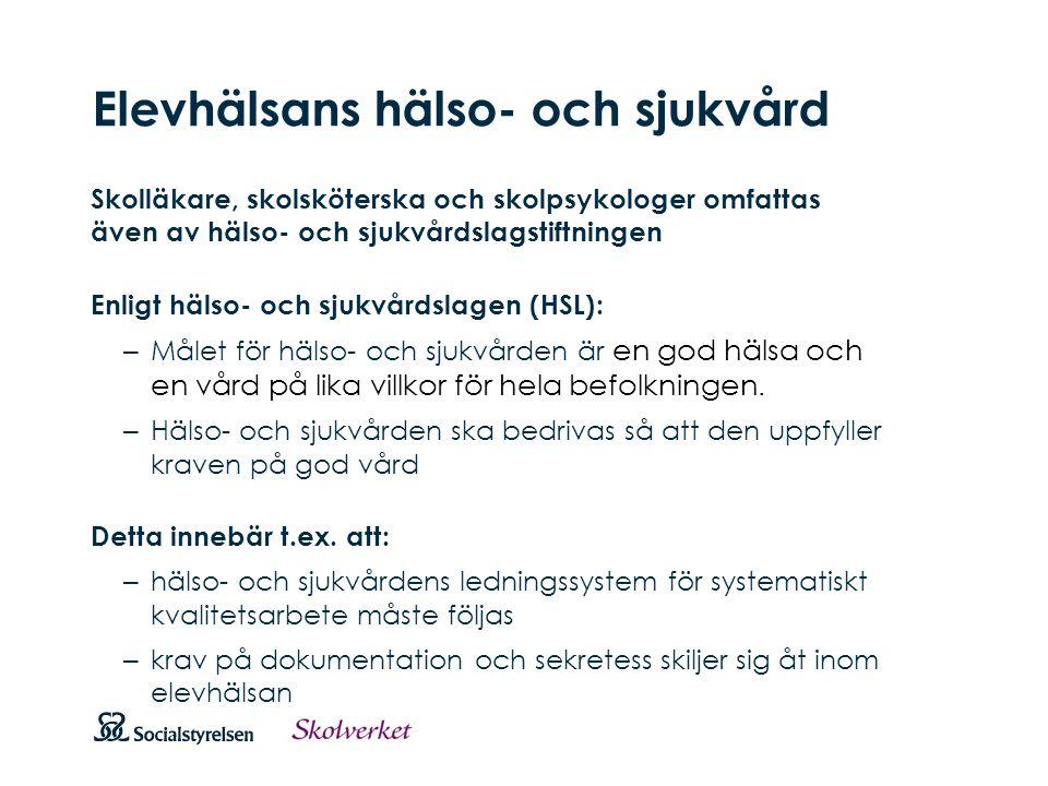 Att visa fotnot, datum, sidnummer Klicka på fliken Infoga och klicka på ikonen sidhuvud/sidfot Klistra in text: Klistra in texten, klicka på ikonen (Ctrl), välj Behåll endast text Elevhälsans hälso- och sjukvård Skolläkare, skolsköterska och skolpsykologer omfattas även av hälso- och sjukvårdslagstiftningen Enligt hälso- och sjukvårdslagen (HSL): – Målet för hälso- och sjukvården är en god hälsa och en vård på lika villkor för hela befolkningen.