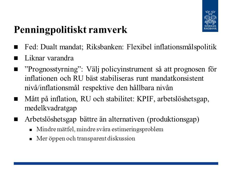 Varför ligger Riksbankens reporäntebana så högt.