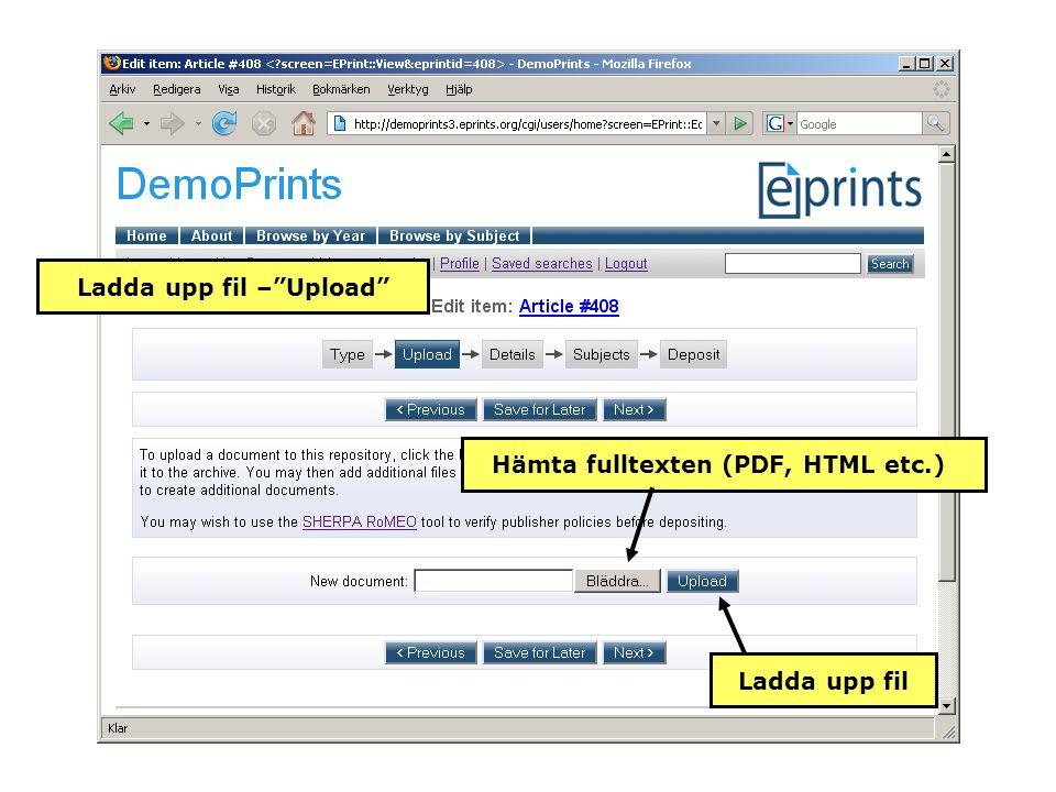 Hämta fulltexten (PDF, HTML etc.) Ladda upp fil Ladda upp fil – Upload