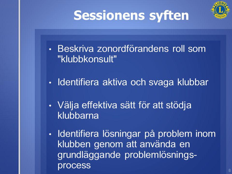 8 Sessionens syften