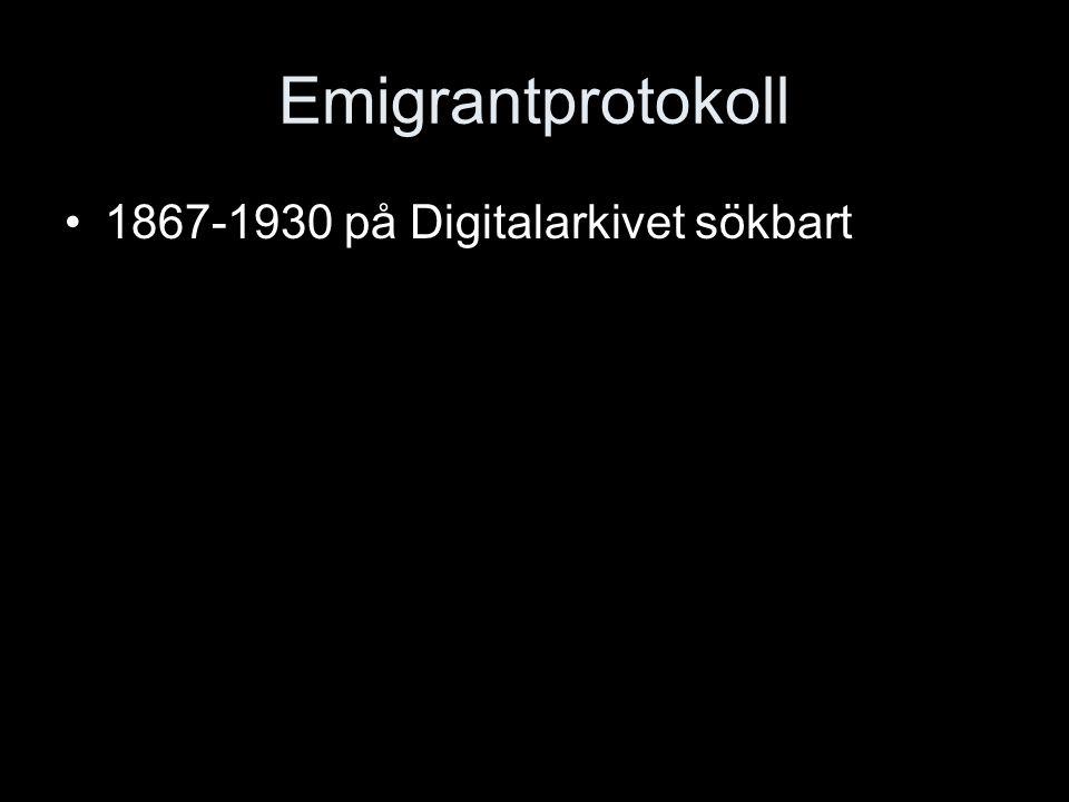 Emigrantprotokoll 1867-1930 på Digitalarkivet sökbart