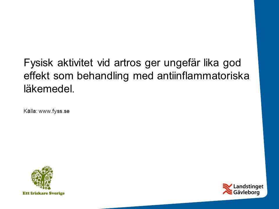 Fysisk aktivitet vid artros ger ungefär lika god effekt som behandling med antiinflammatoriska läkemedel.