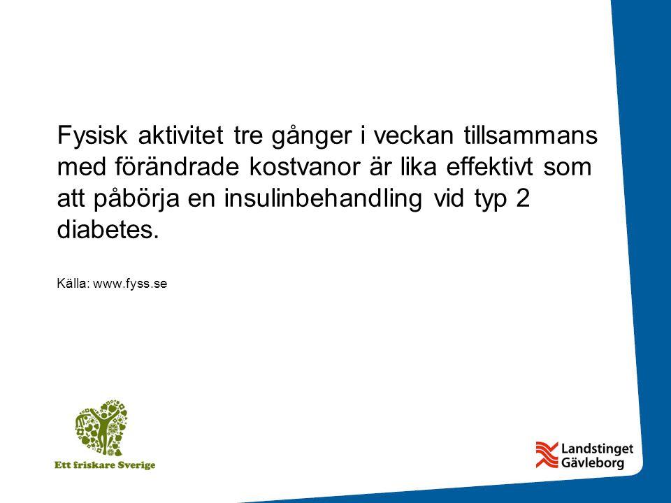 Fysisk aktivitet tre gånger i veckan tillsammans med förändrade kostvanor är lika effektivt som att påbörja en insulinbehandling vid typ 2 diabetes.